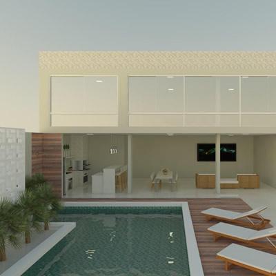 Projeto Arquitetônico Área de Lazer