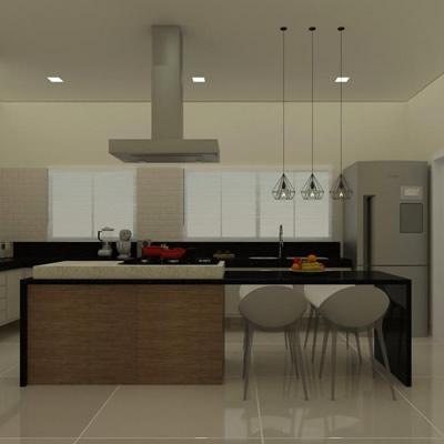 Projeto de Interiores residencial – Cozinha integrada