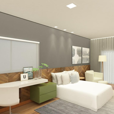 Projeto de interiores residencial – Quarto de casal